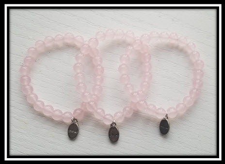 Rose Quartz Bracelet with Embrace Charm
