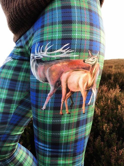 The Highland Tweed Leggings (Matt Finish )