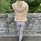 Thumbnail: Brown Oat Herringbone Tweed Leggings (Matt Finish)
