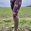 Thumbnail: Mad March Boxing Hares Leggings Brown (Satin Finish)