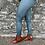 Thumbnail: Green Shetland Tweed Leggings (Matt Finish)