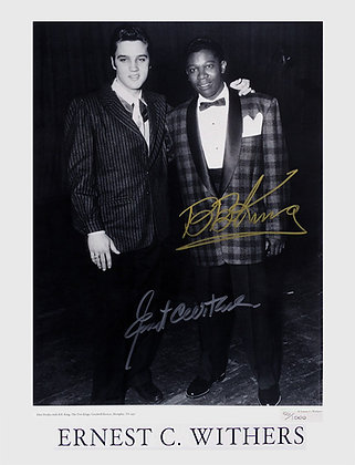 """The Two Kings"" Signed by Ernest Withers & B.B. King"