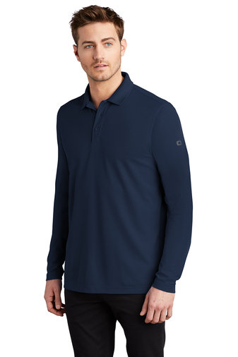 OG105 Mens Caliber Long Sleeve Polo
