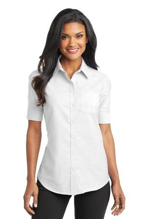 L659  Ladies Short Sleeve Oxford Shirt