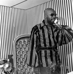 Isaac Hayes in His Office