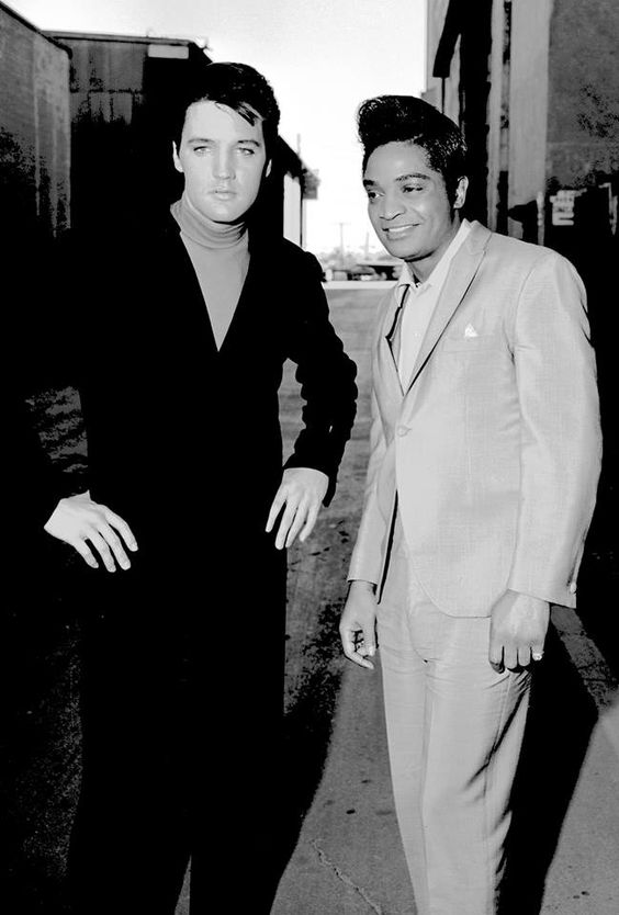 Elvis with singer Jackie Wilson