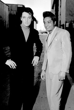 Elvis with singer Jackie Wilson
