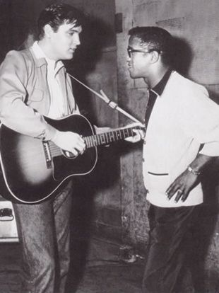 Elvis with Sammy Davis Jr.