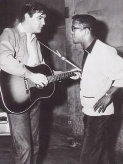 Elvis with Sammy Davis Jr.