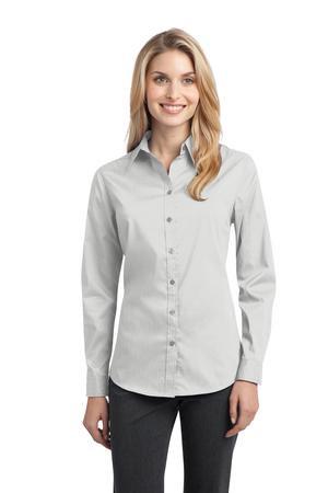 L646  Ladies Stretch Poplin Shirt