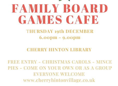 Christmas Family Board Games Cafe