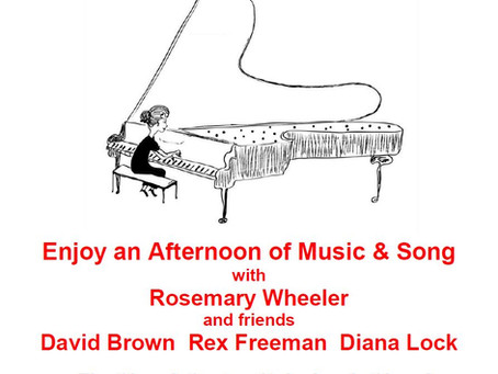 Friends of Cherry Hinton, St Andrew present Rosemary Wheeler in concert.