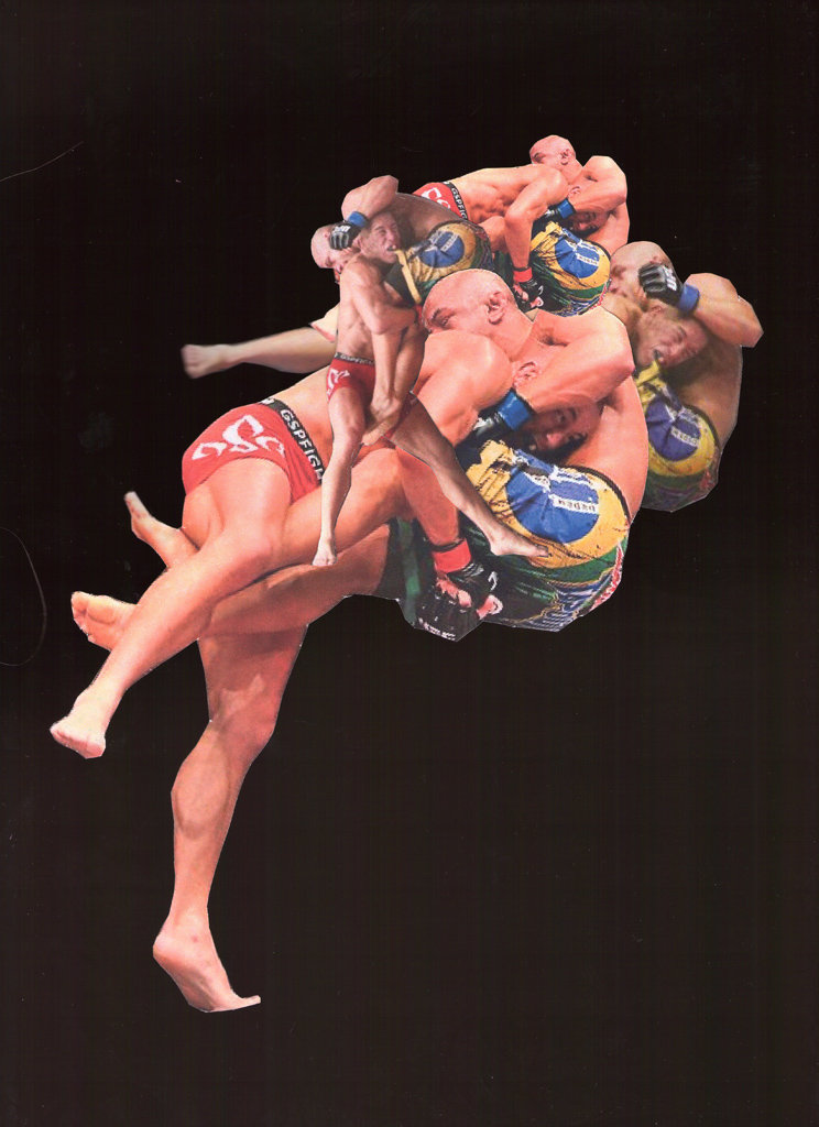 Sasha Phipps a French-Canadian artist creates a top-heavy mass using cutouts of GSP VS Alves