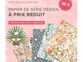 Promotion sur les papiers Design