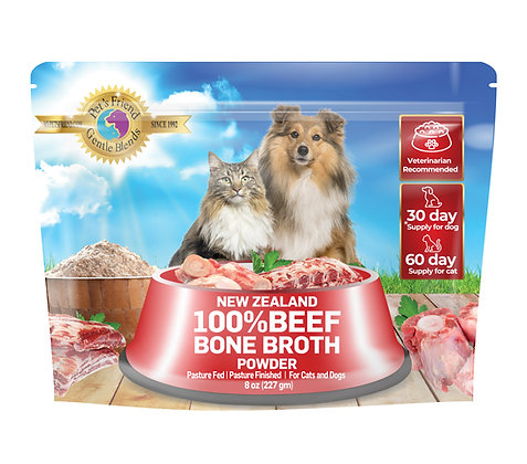 Beef Bone Broth Powder for Dogs and Cats 8 oz (227 gm)