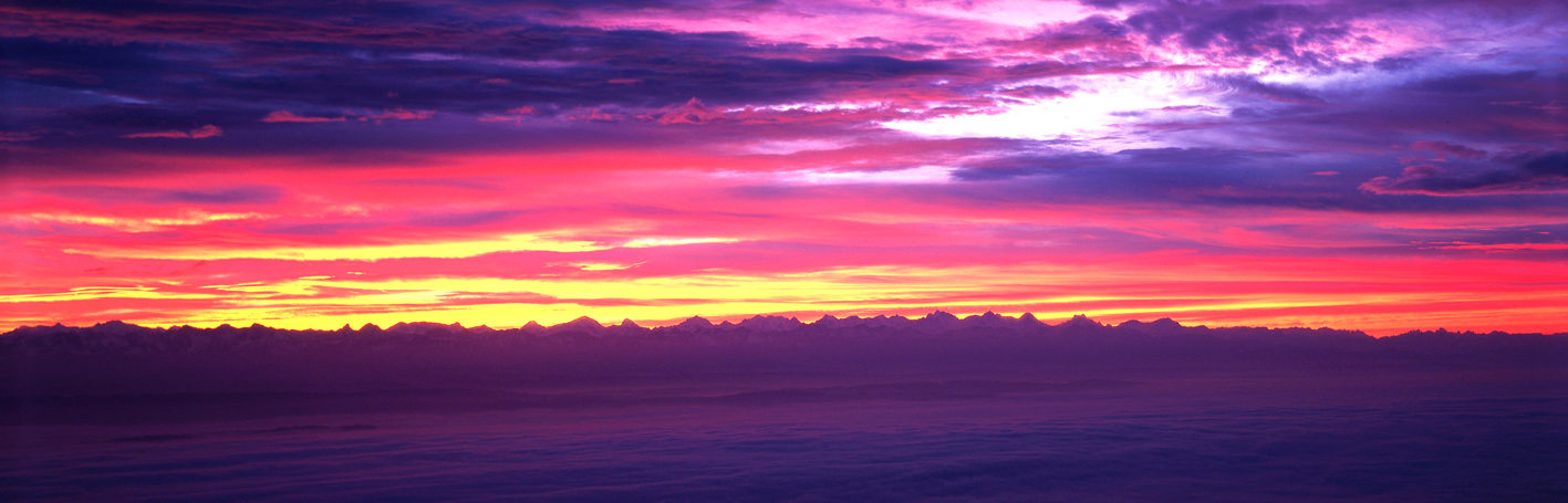 les Alpes le matin