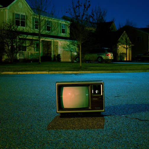 Old TV on the Street