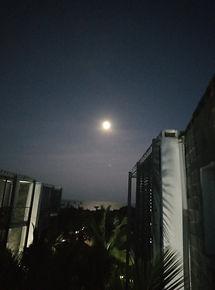 The moon in Aqua