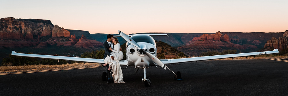 Sedona Elopement Inspiration at the Sedona Airport
