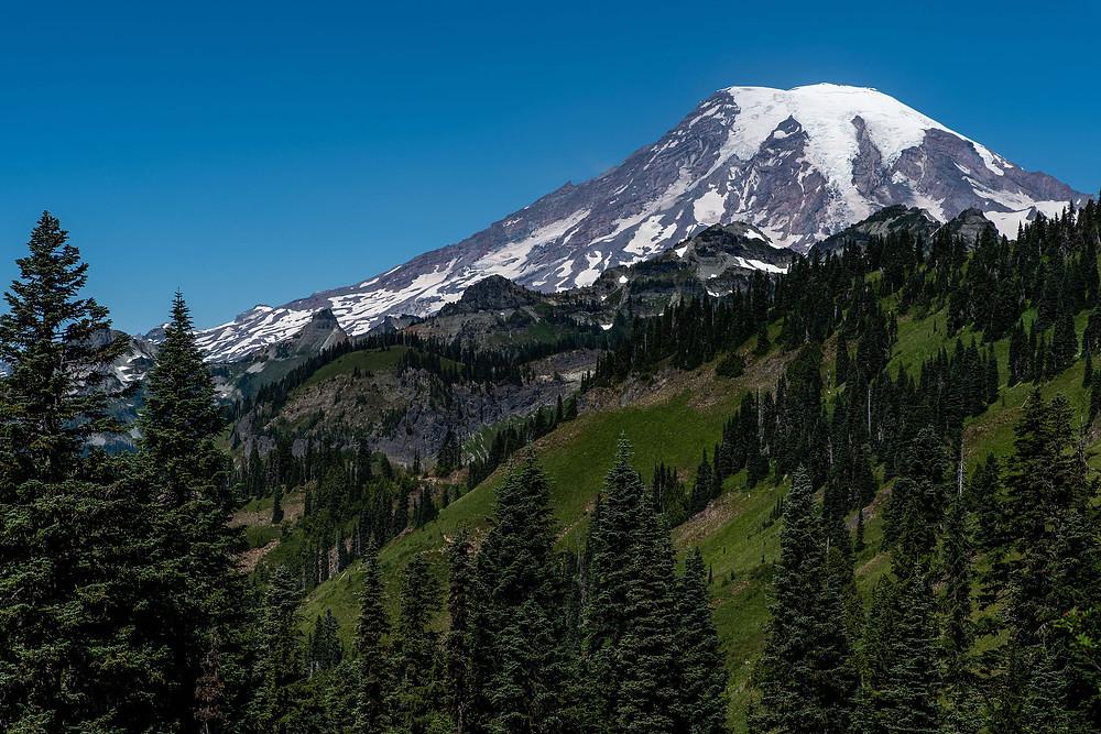 Mount Rainier in the Tatoosh Wilderness in Washington