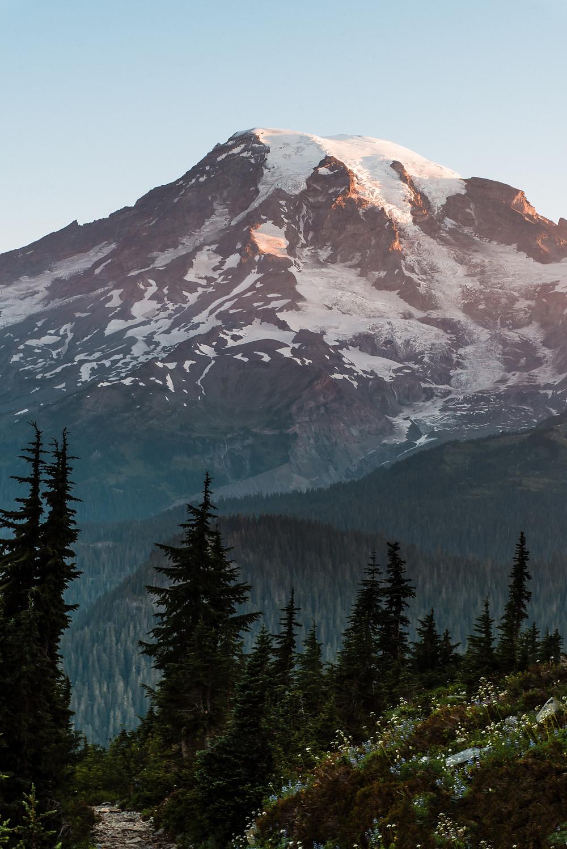 Sunrise at Mount Rainier National Park