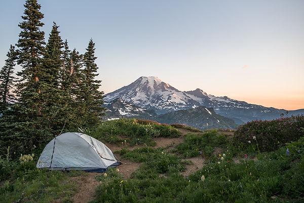 Mount Rainier backpacking elopement