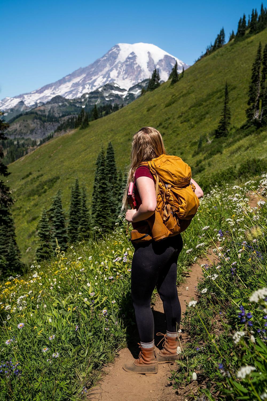 Adventure Elopement Photographer at Mount Rainier National Park