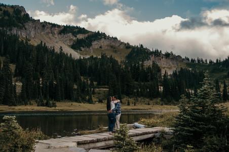 Engagement photos in Mount Rainier National Park in Washington