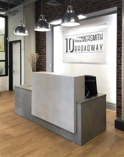 Concrete effect Laminate Reception Desk