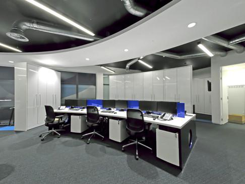 Reception Desk Polyrey Noir blanc perspex