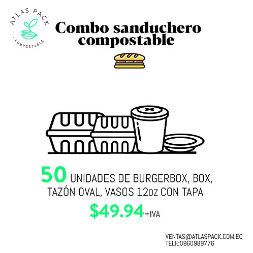 Combo Sanduchero Compostable