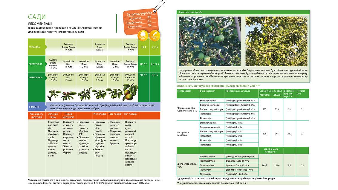 Технологія вирощування садів та ягідників