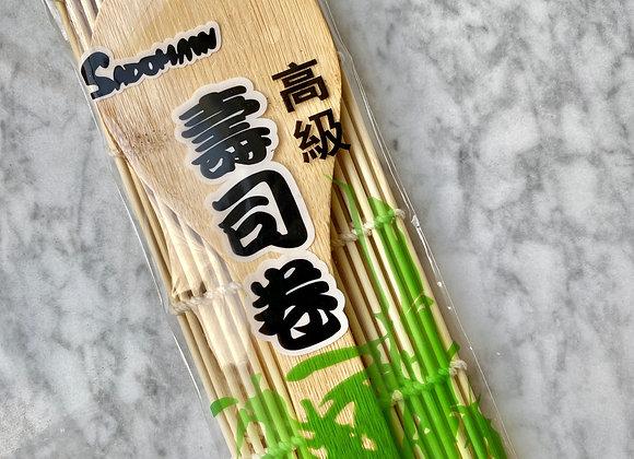 Bamboo Mat and Rice Paddle