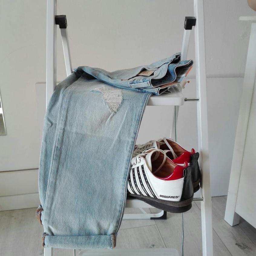 Jeans Levis e scarpe Dsquared