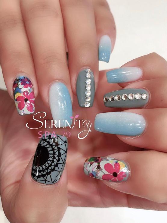 SNS nail art