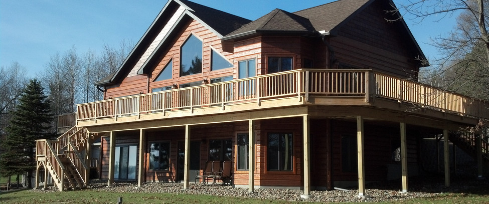 Wrap Around Deck and Covered Patio