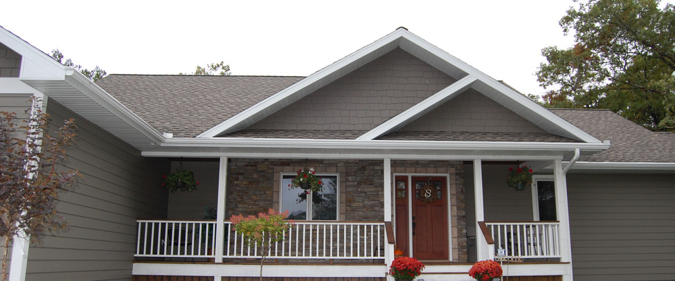 Stone Accent Exterior, Covered Porch