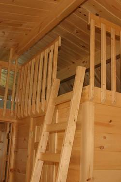 Ladder to Loft. Over bathroom.