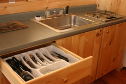 Equipped kitchen.