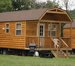 Cabins with kitchens & bathrooms