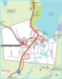 Cooperstown Trolley Map