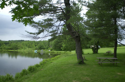 Tent Site on Pond