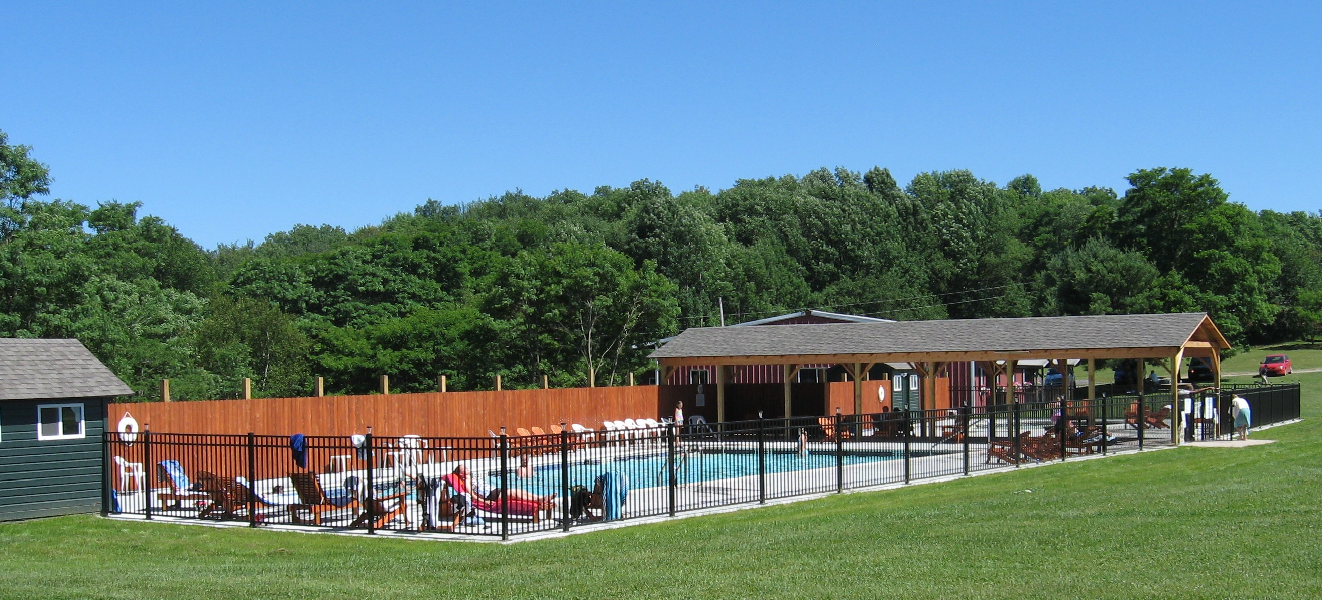 Solar-heated Pool and Wading Pool