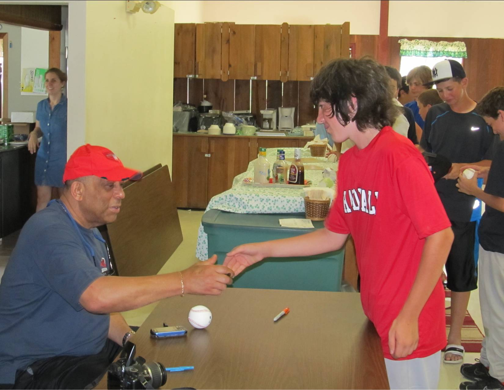Orlando Cepeda at Camp