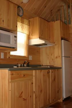 Kitchen. Full size fridge.