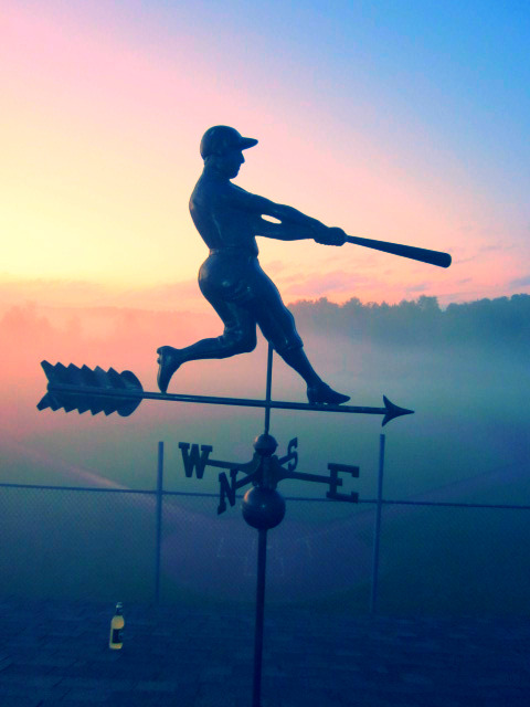 Weather Vane on Press Box