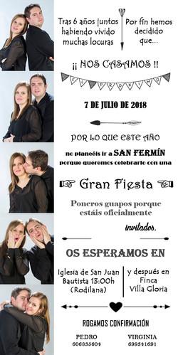 INVITACION DE BODA VIRGINIA Y PEDRO