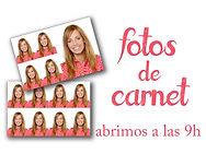 FOTOS DE CARNET INSTANTÁNEAS