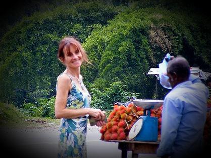 Buying Rambutan - Sri Lanka - Carolyn Ann Lilly - English Afternoon Tea Course Tutor