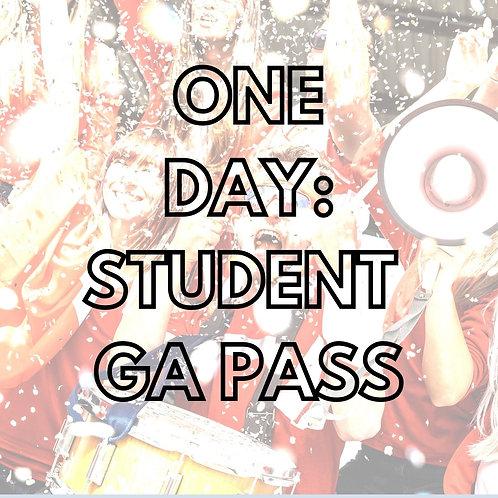 One Day:  Student GA Pass